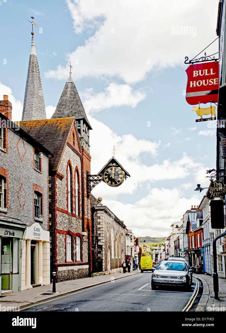 Lewes, East Sussex, High Street Stock Photo
