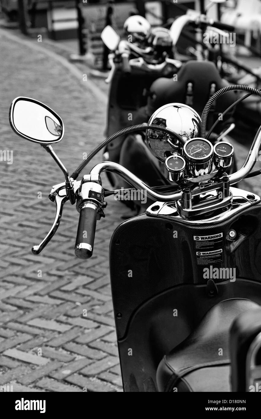 Holland, Volendam (Amsterdam), motocycles parked - Stock Image