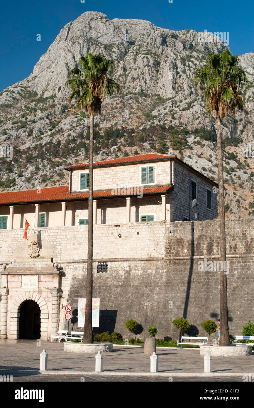 The West / Sea Gate entrance to the Kotor old town in Montenegro. - Stock Image
