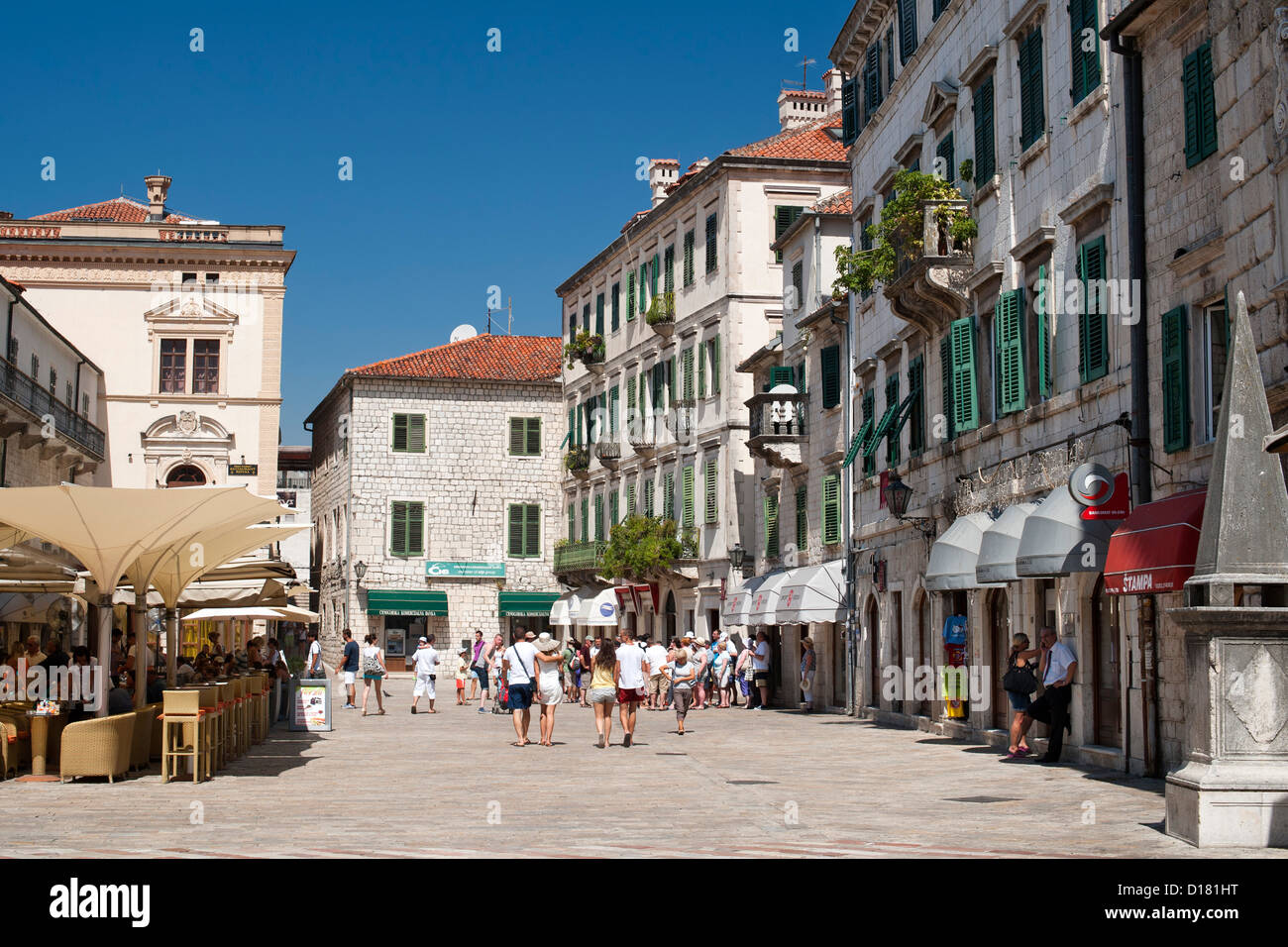 The old town of Kotor in Montenegro. - Stock Image