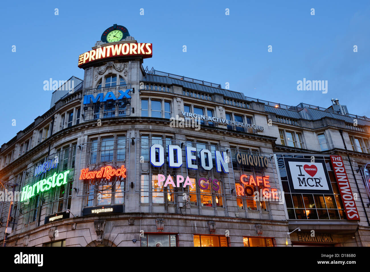 The Printworks entertainment venue in Manchester City Centre - Stock Image