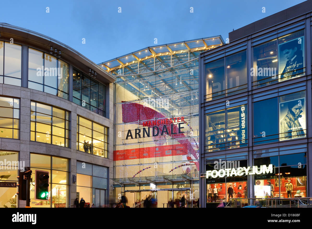 Entrance to The Manchester Arndale Centre - Stock Image