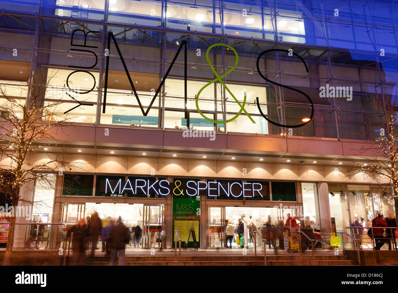 Flagship Marks and Spencer store in Manchester City Centre - Stock Image