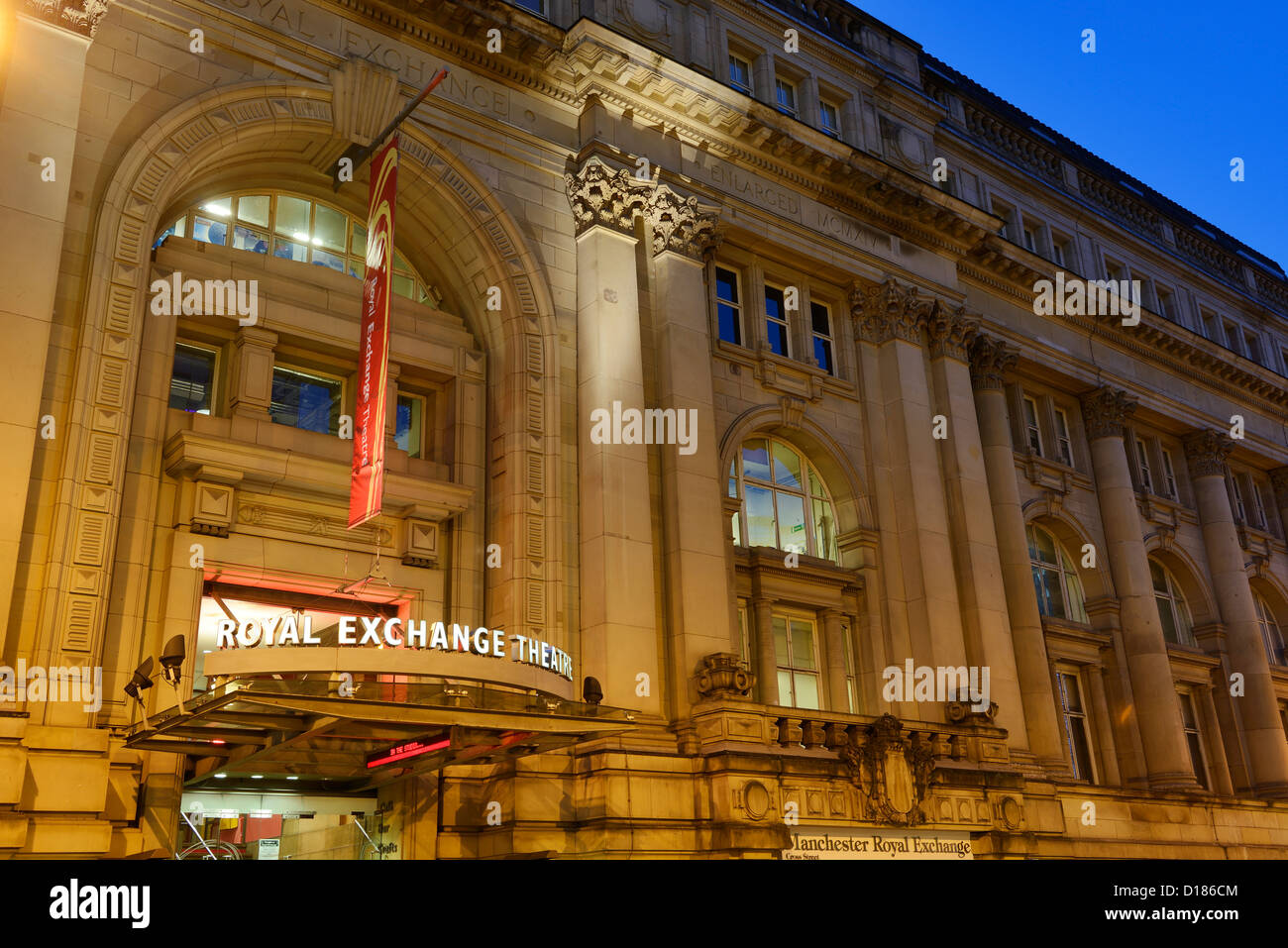 Manchester Royal Exchange Theatre entrance - Stock Image