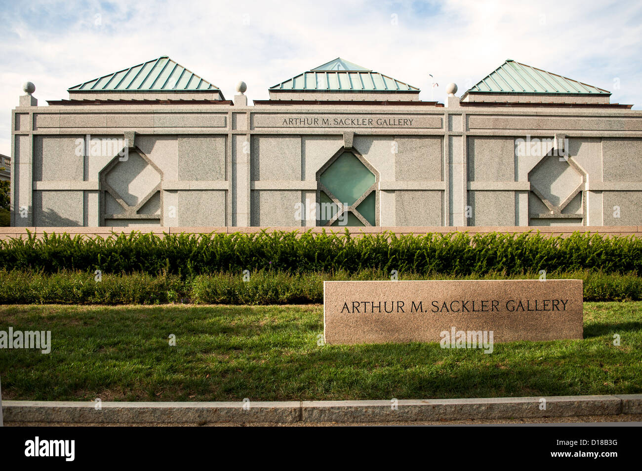 Arthur M. Sackler Gallery and Museum in Washington DC - Stock Image