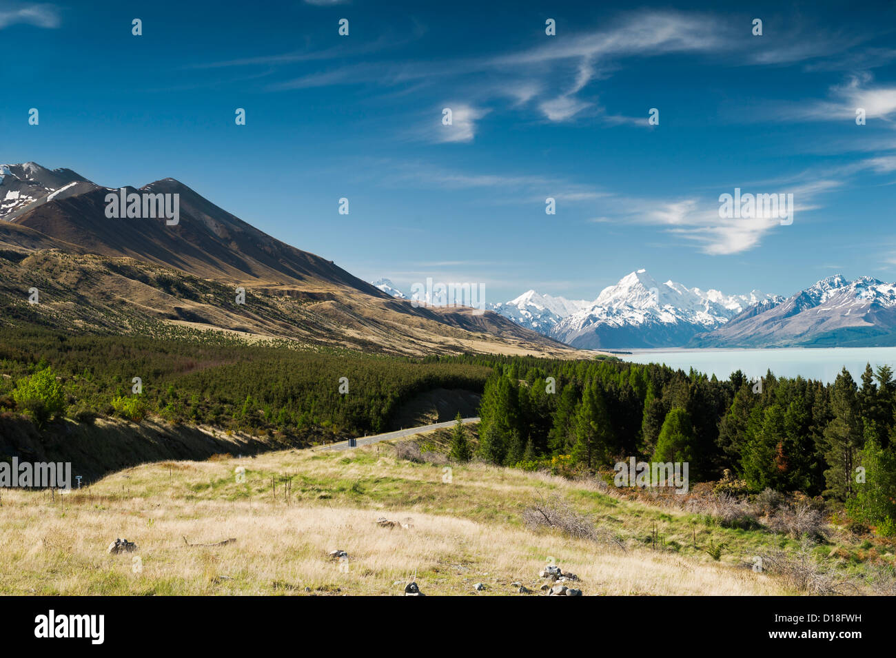 Dirt road in rural landscape - Stock Image