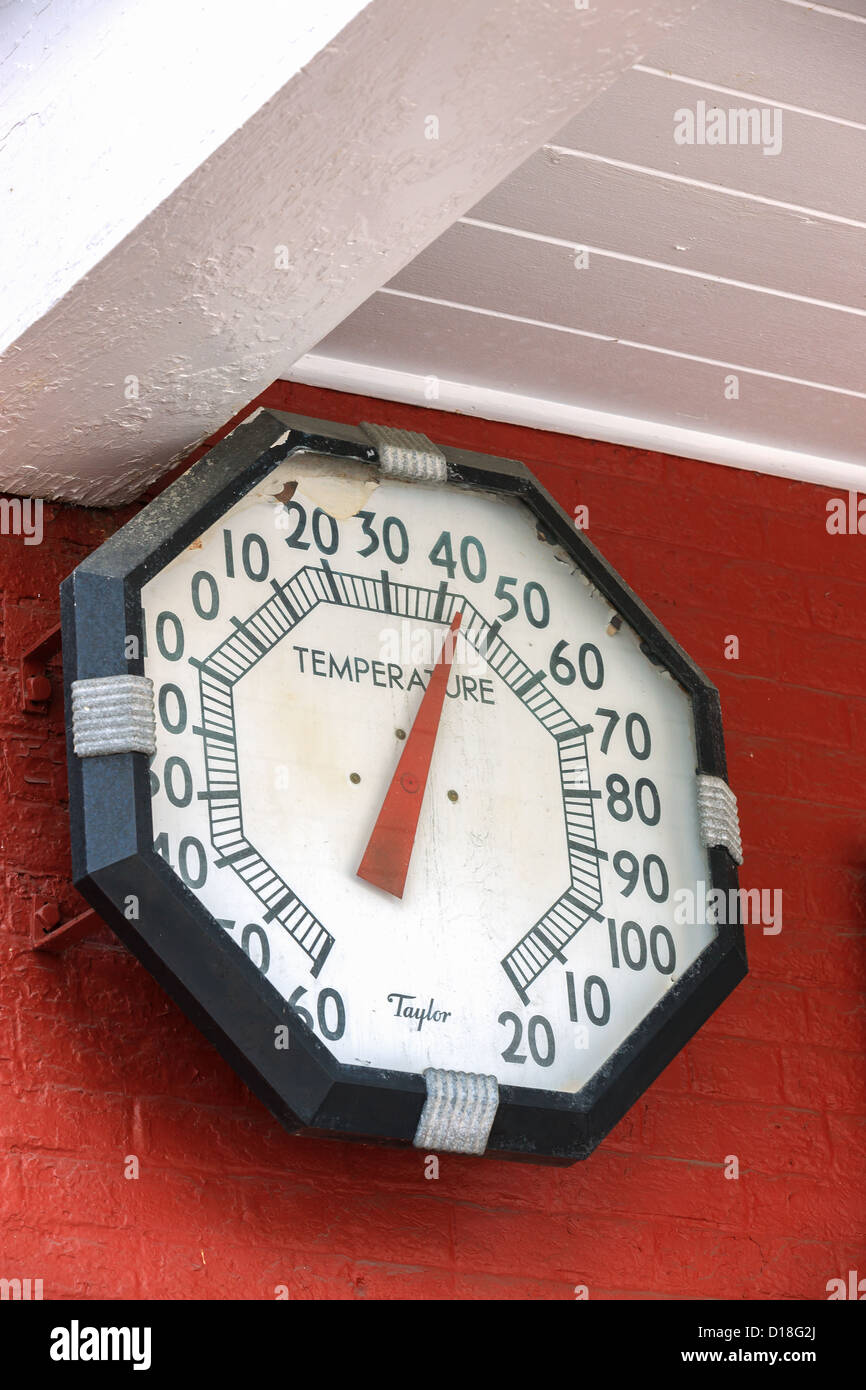 Taylor thermometer Stowe, Vermont, United States - Stock Image