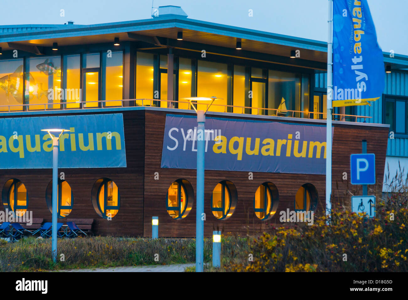 Sylt Westerland blue hour - Stock Image