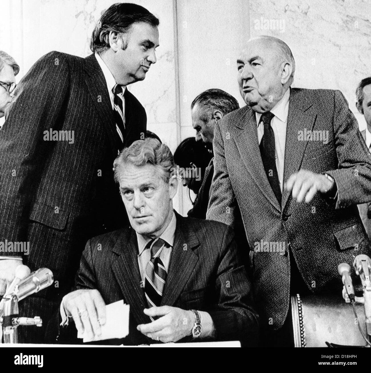 senate watergate committee members of the committee about to start