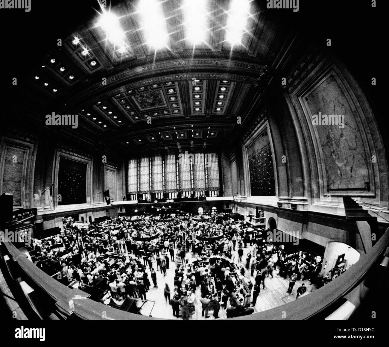 Fish Eye View Of The Trading Floor Of The New York Stock Exchange