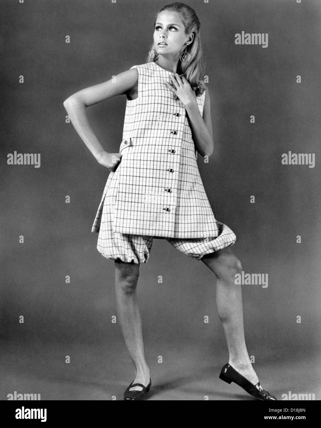 Jacques Tiffeau, the French-born fashion designer was at the height of his career in the 1960s, creating designer - Stock Image
