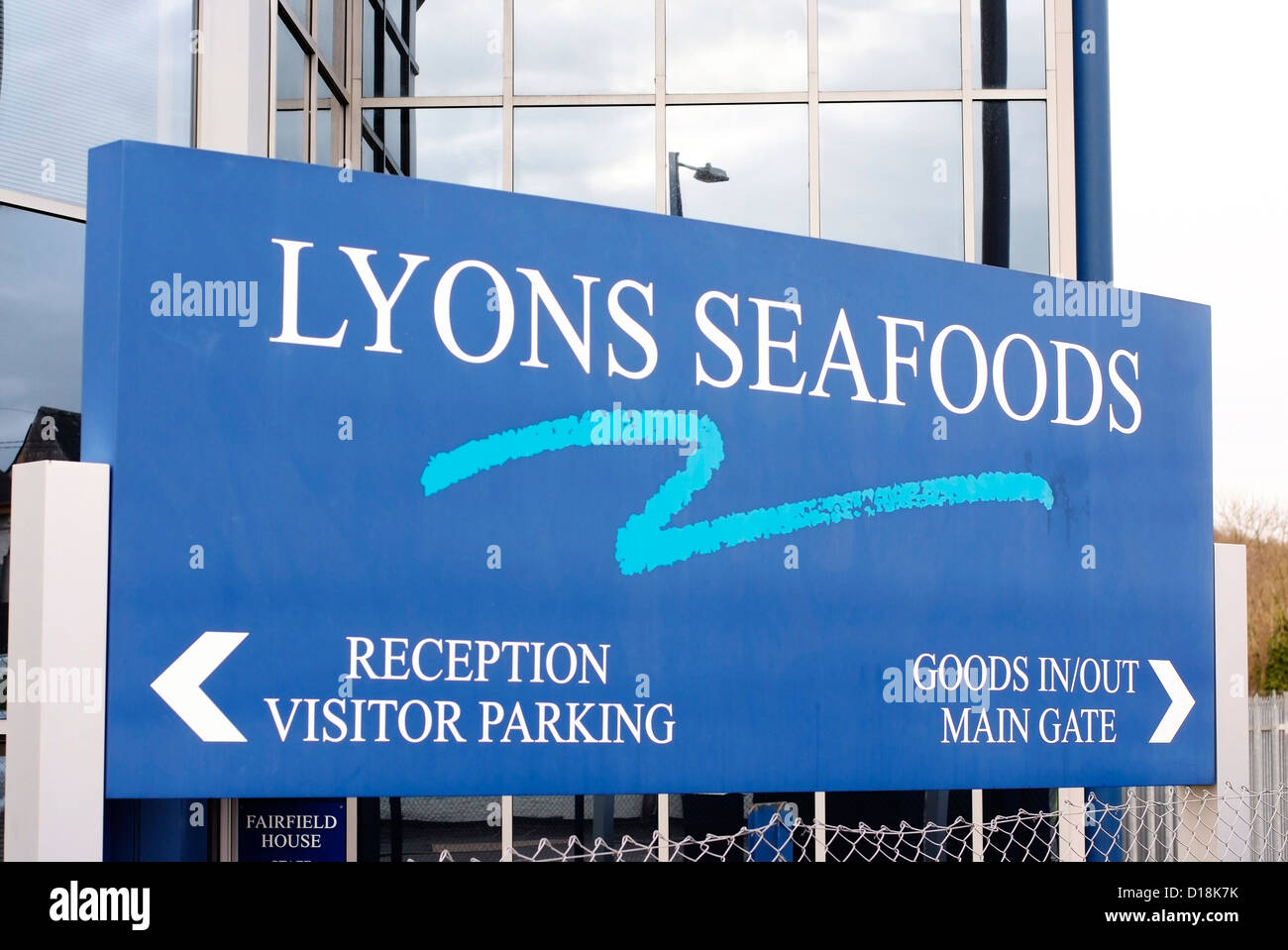 Lyons Seafoods at Warminster. - Stock Image