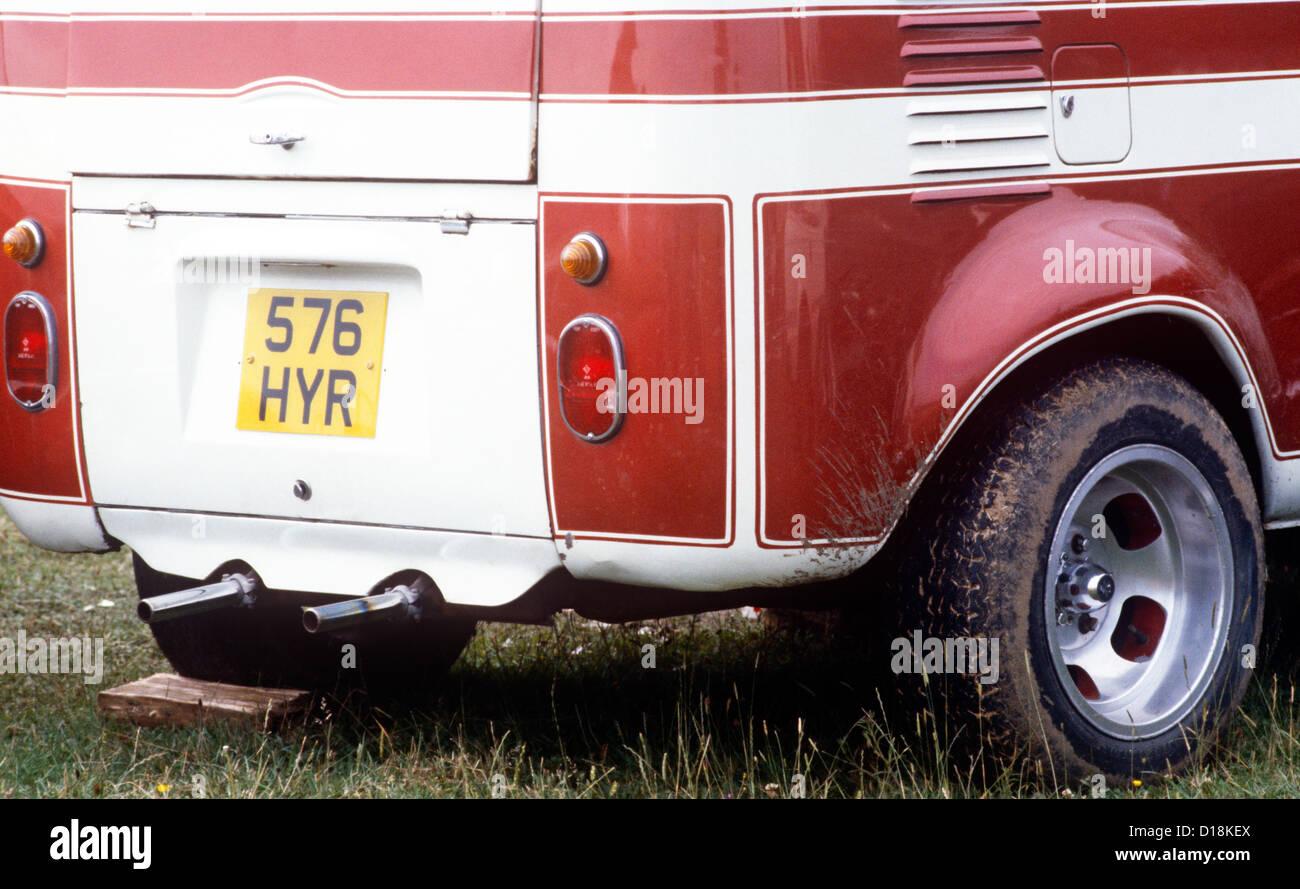VW Van Glastonbury Festival UK - Stock Image