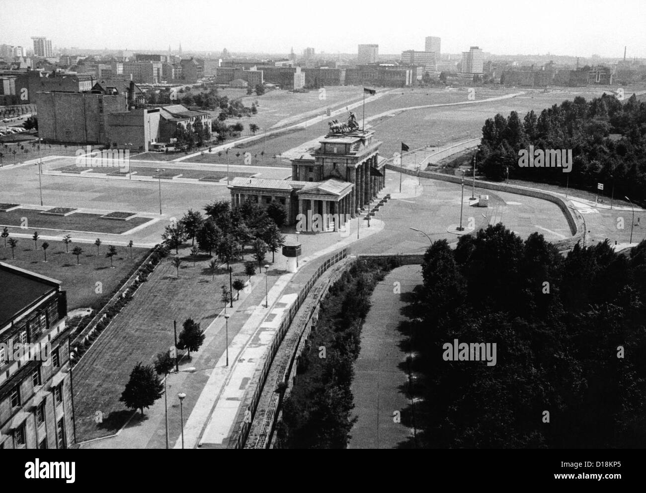 Aerial View Of Brandenberg Gate Where The Berlin Wall