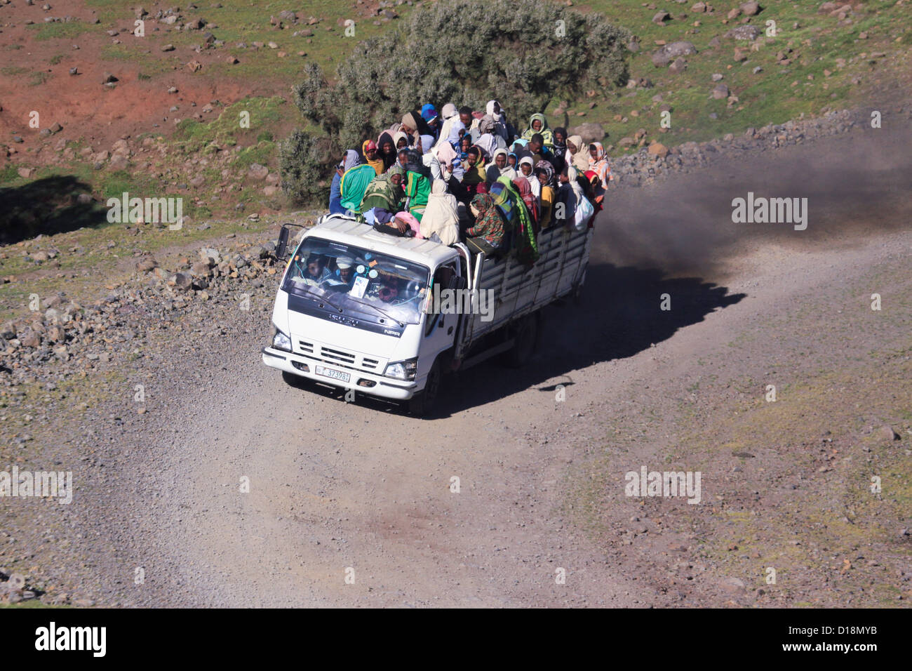 Africa, Ethiopia, Simien mountains local transport - Stock Image