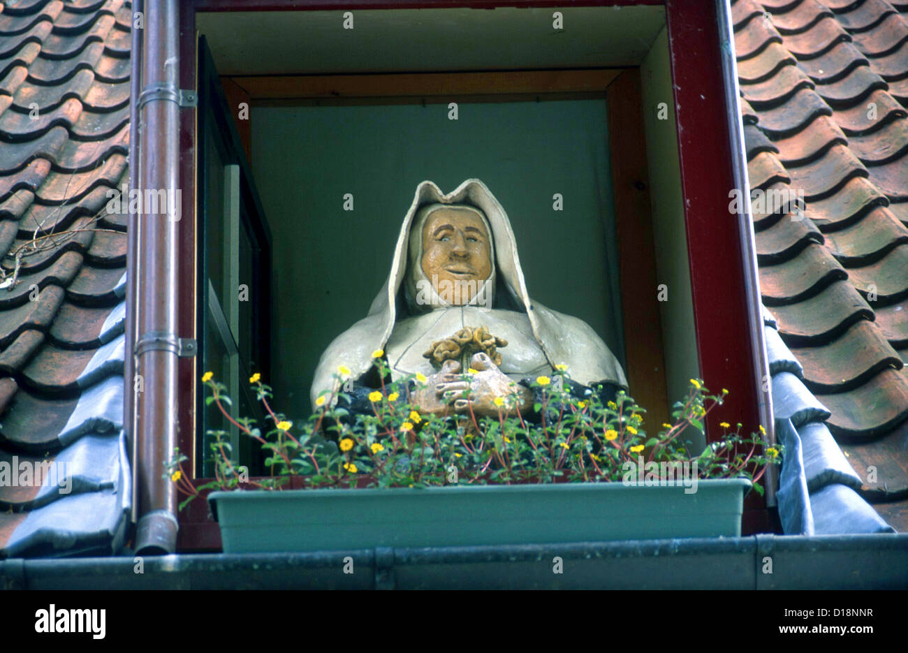 Effigy of The Countess of Flanders founder The Beguinage of Bruges was founded in 1245 - Stock Image