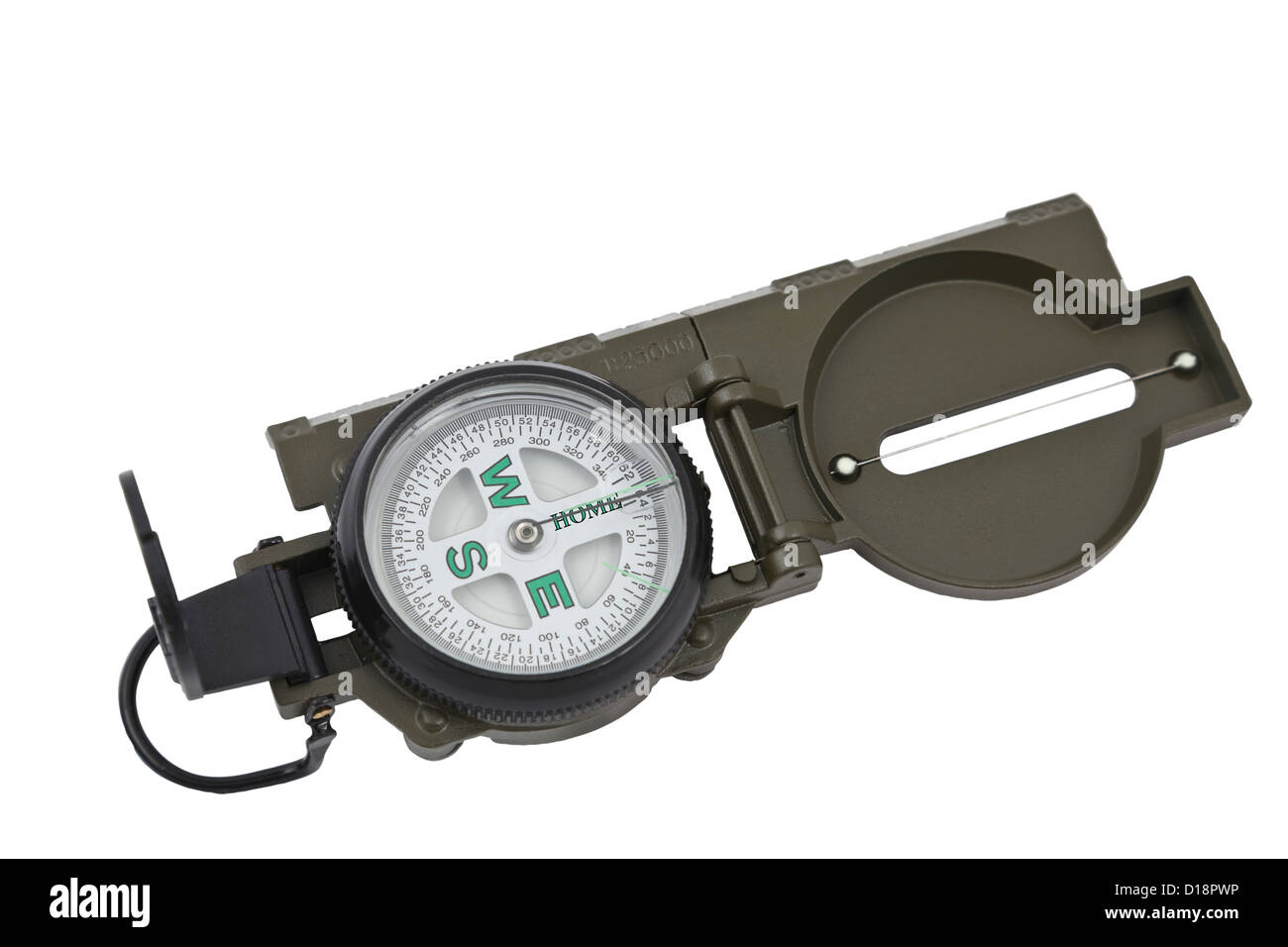 A military style compass pointing the way home - Stock Image