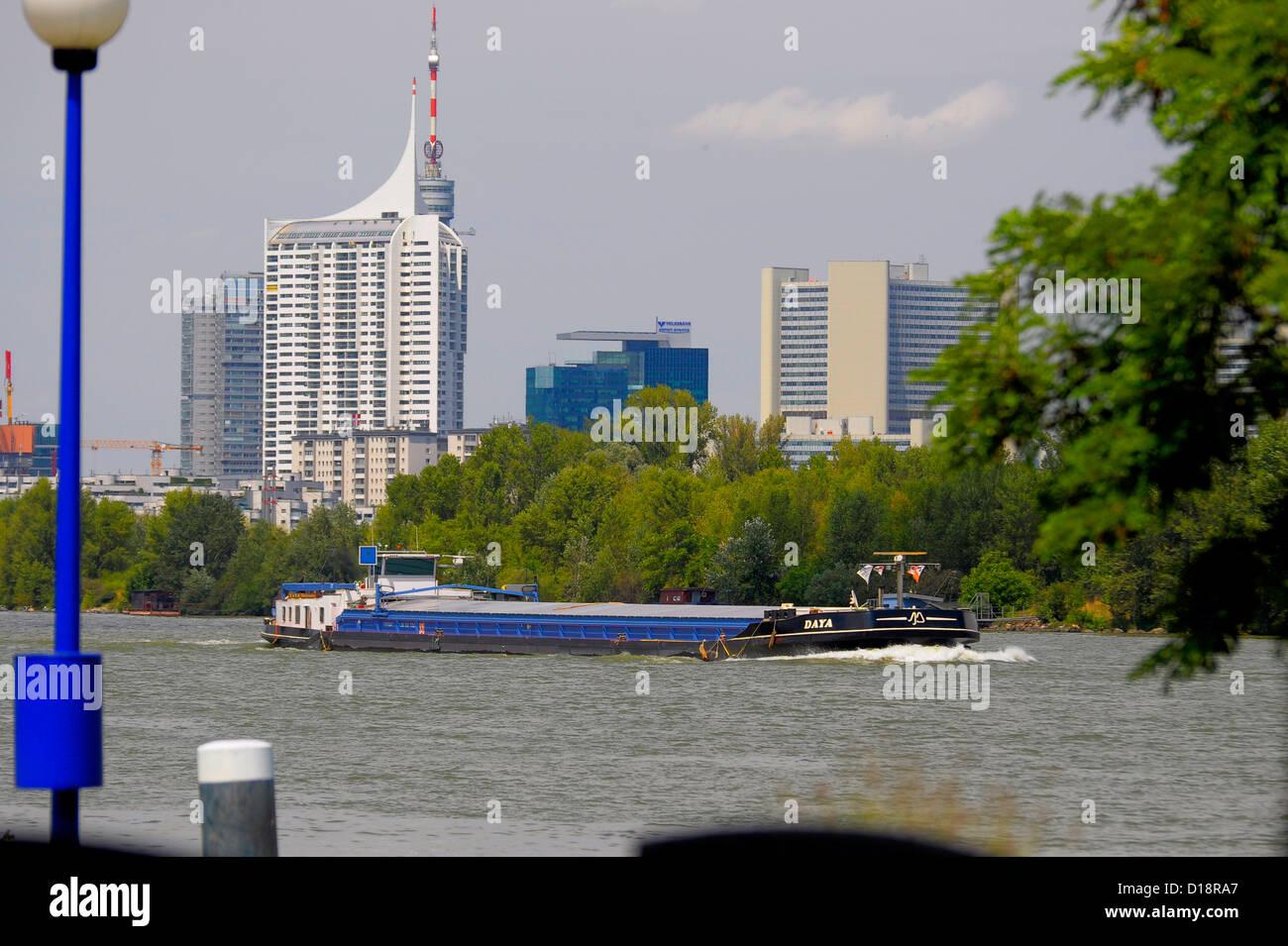 Österreich, Wien, Donaustrand, neues,modernes Wien, Donau City, Fernsehturm, - Stock Image