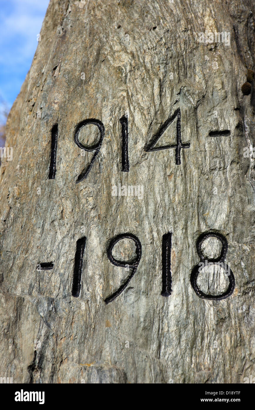 In remembrance of the First World War 1914 -1918 - Stock Image