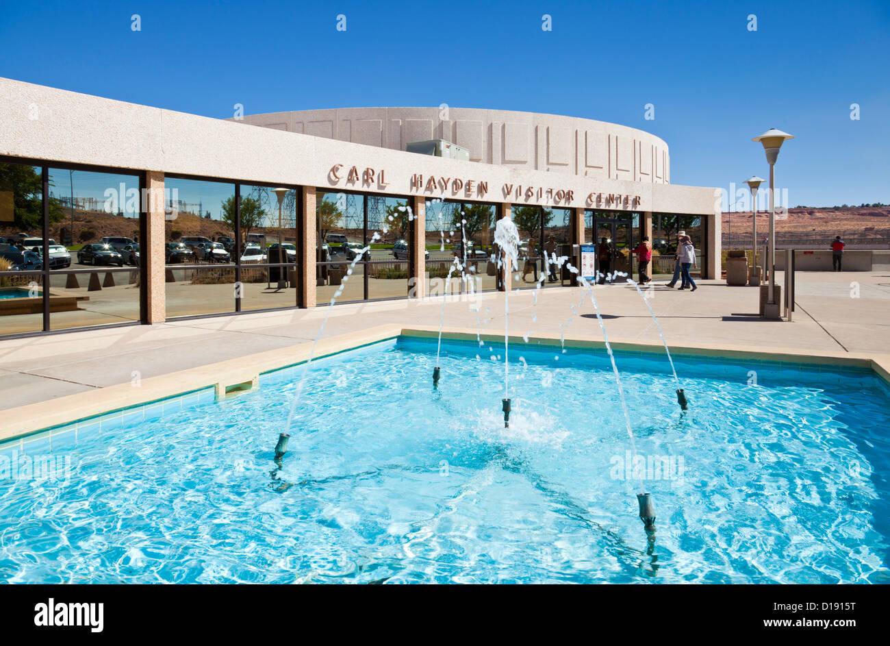 Carl Hayden Visitor Centre at Glen Canyon Dam, near Page, Arizona, United States of America, North America - Stock Image