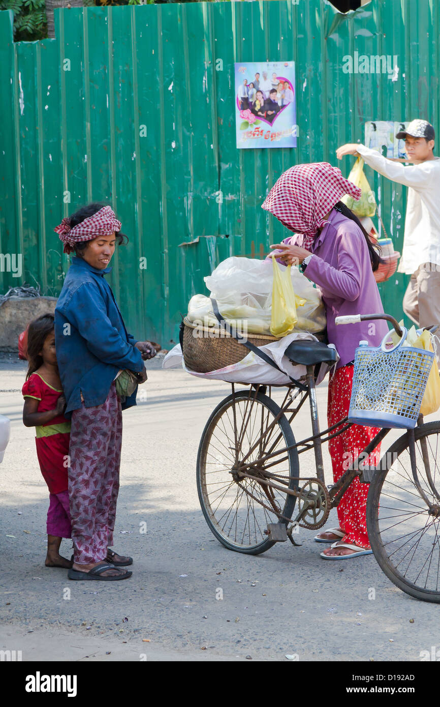 Typical Everyday Life in the Streets of Phnom Penh, Cambodia - Stock Image