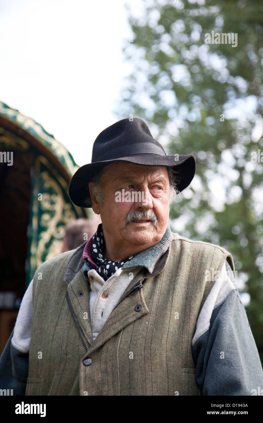Candid portrait of old Romany gypsy Stock Photo: 52446558