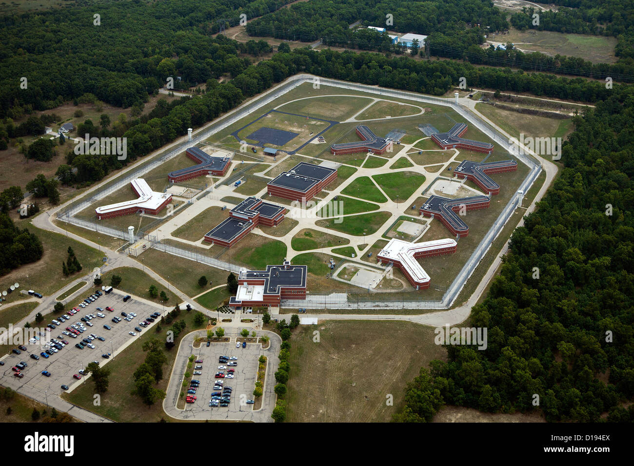 aerial photograph Oaks Correctional Facility, Manistee, Michigan - Stock Image