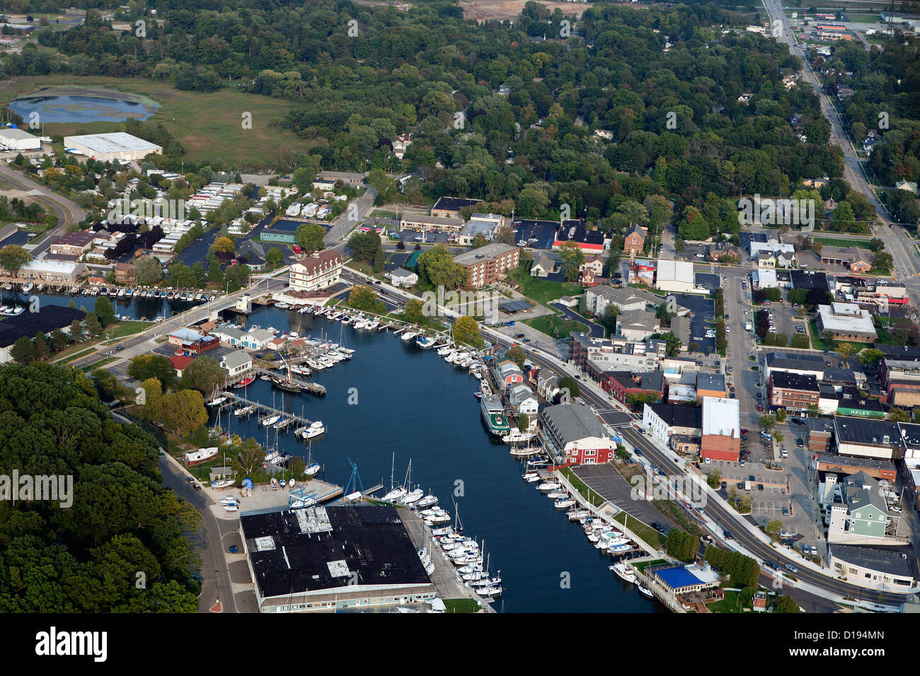 aerial photograph South Haven, Michigan Stock Photo: 52447045 - Alamy
