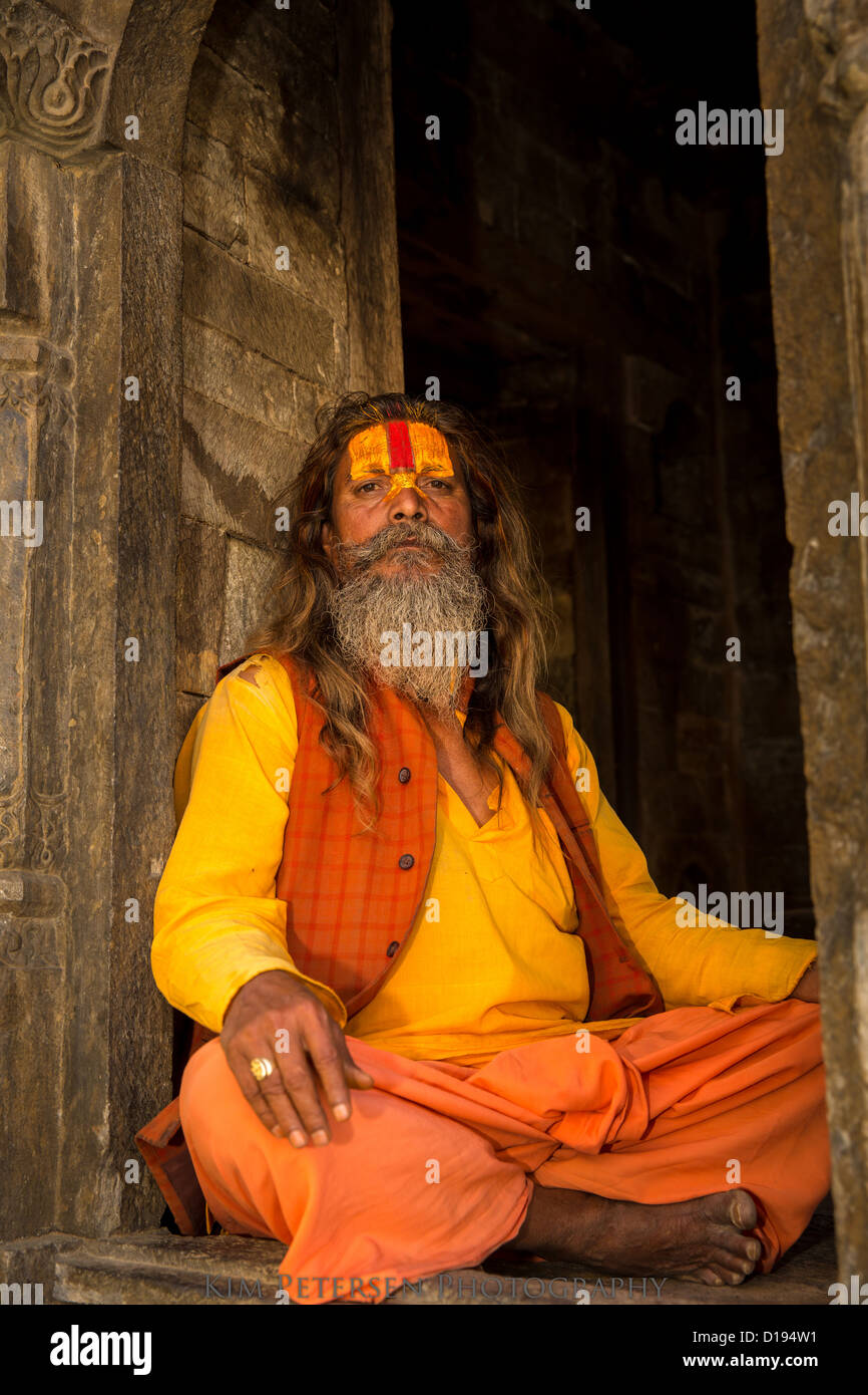 Sadhu, holy man, Pashupatinath, Kathmandu, Nepal Stock Photo