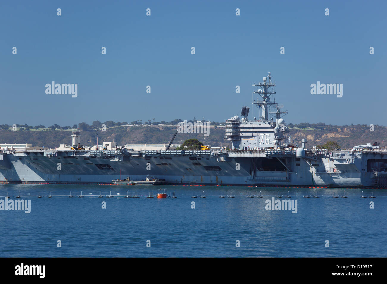 USS Ronald Reagan aircraft carrier in San Diego, California, USA. - Stock Image