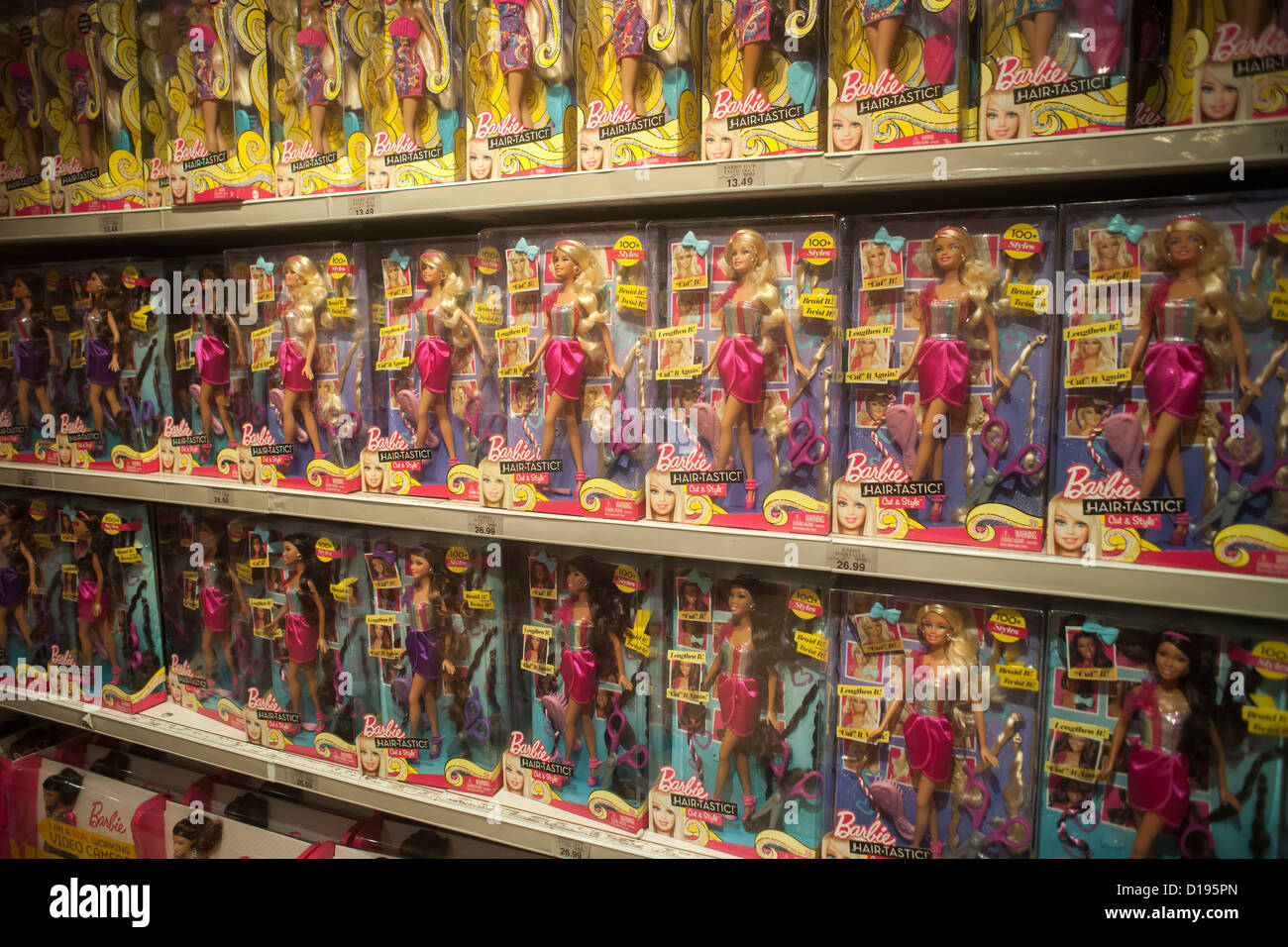 Barbie Doll Display Inside The Toys R Us Store In Busy Times Square