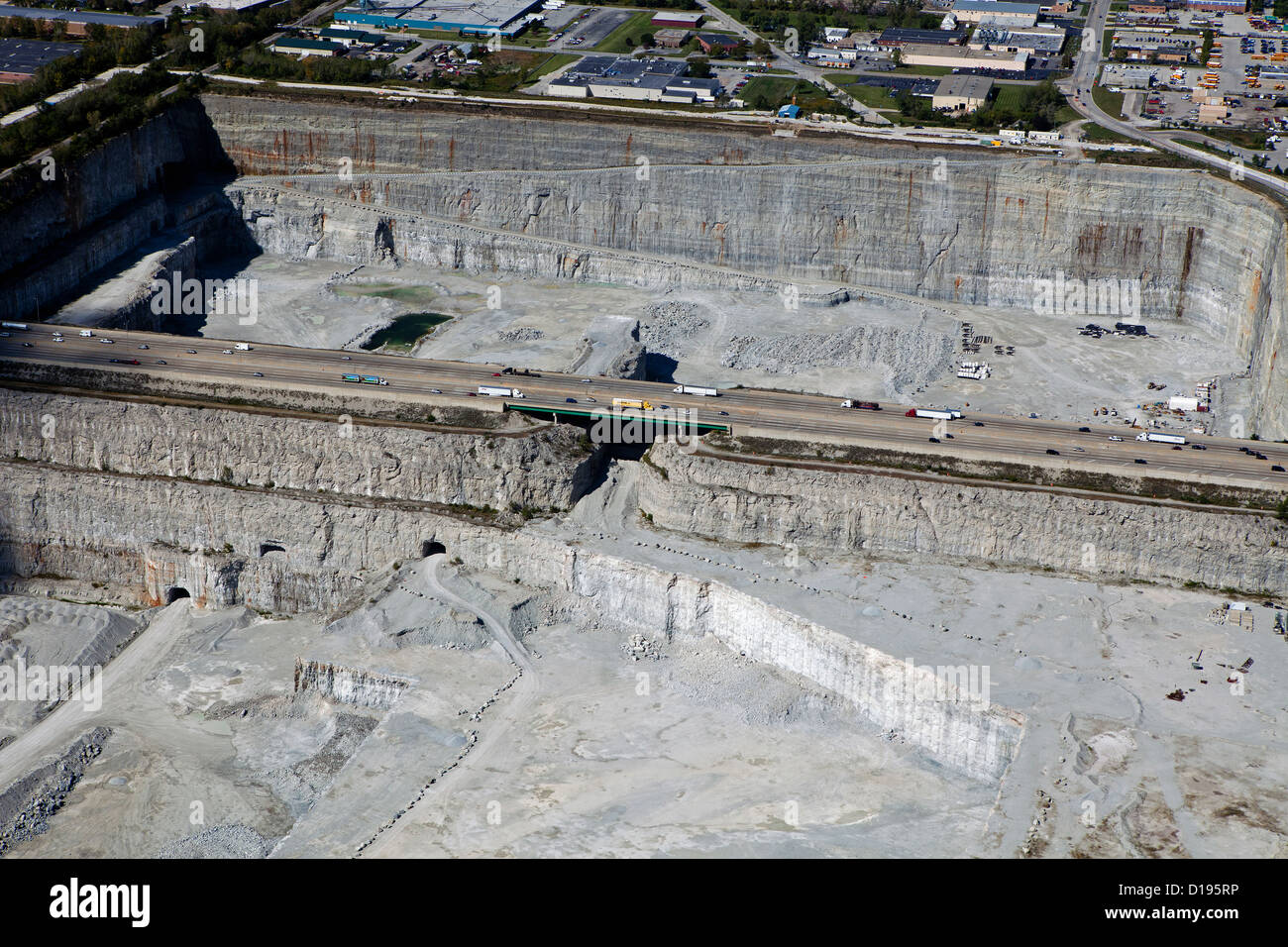 aerial photograph Thorton Quarry, Thorton, Illinois - Stock Image