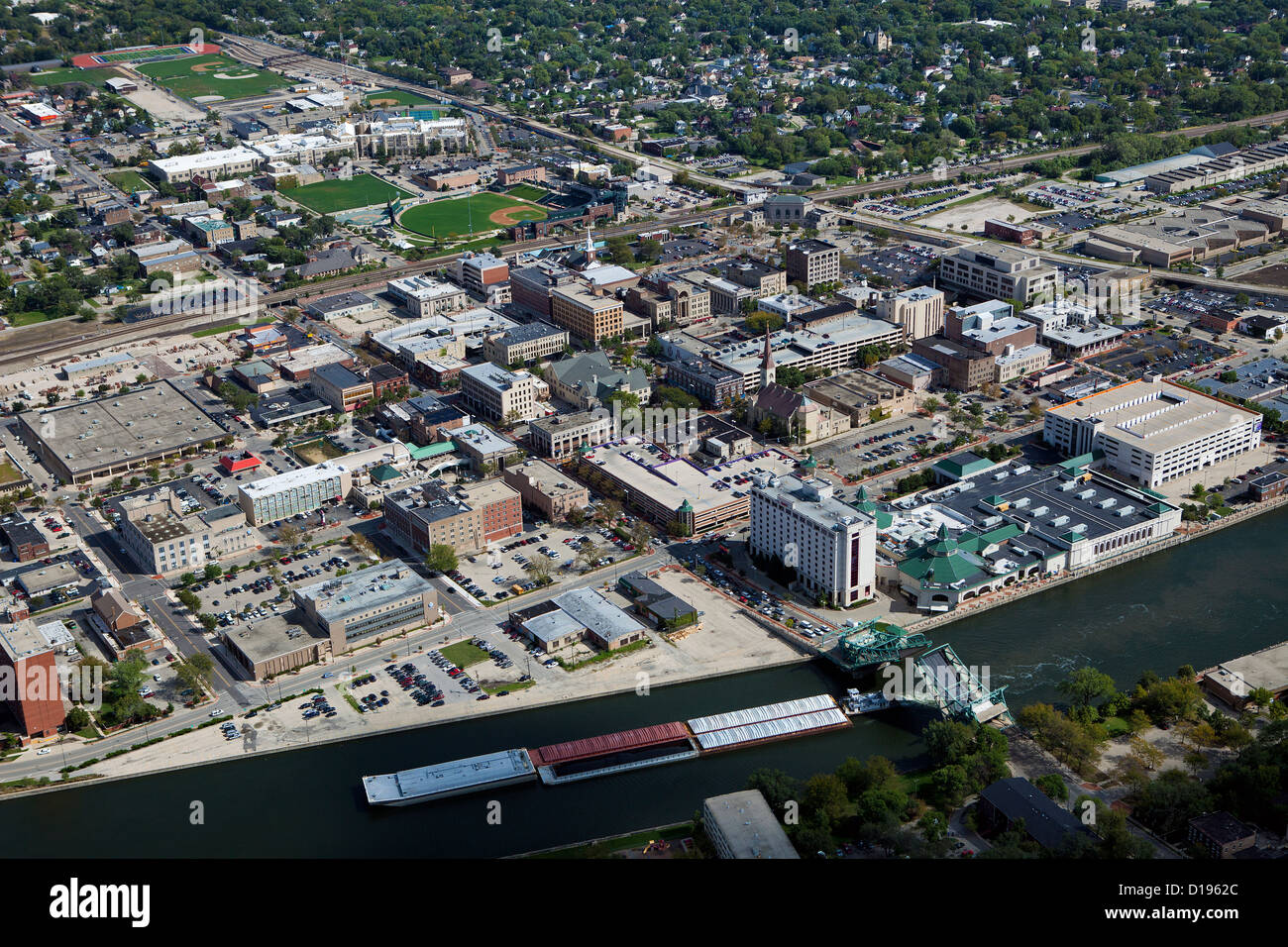 aerial photograph Joliet, Illinois - Stock Image