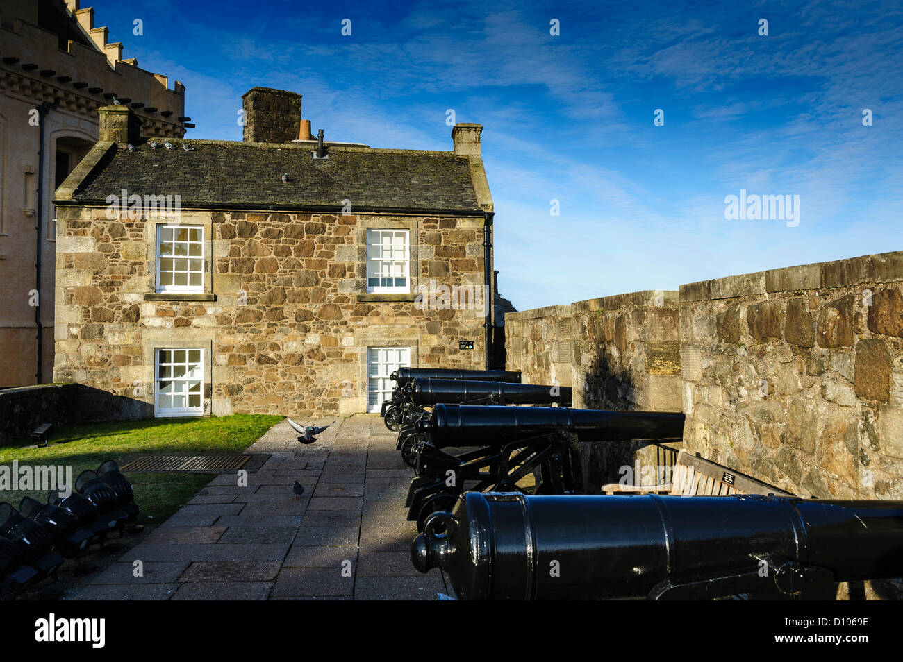 The Grand Battery at Stirling Castle, Scotland Stock Photo