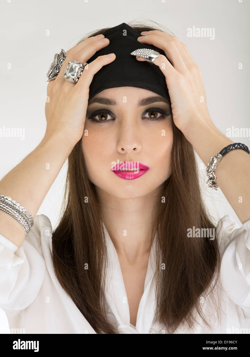 Gypsy fortune teller clairvoyant psychic Stock Photo