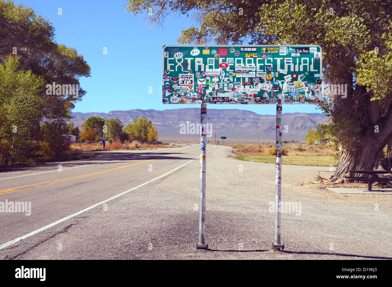 The 'Extraterrestrial Highway' Nevada State Route 375 leads to 'Area 51' - and beyond! - Stock Image