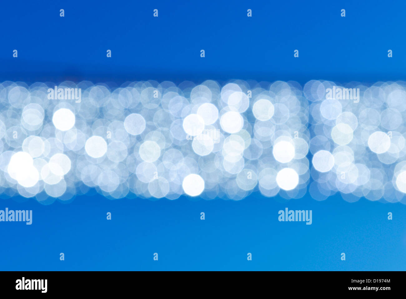 Abstract blue and white stripe - Stock Image