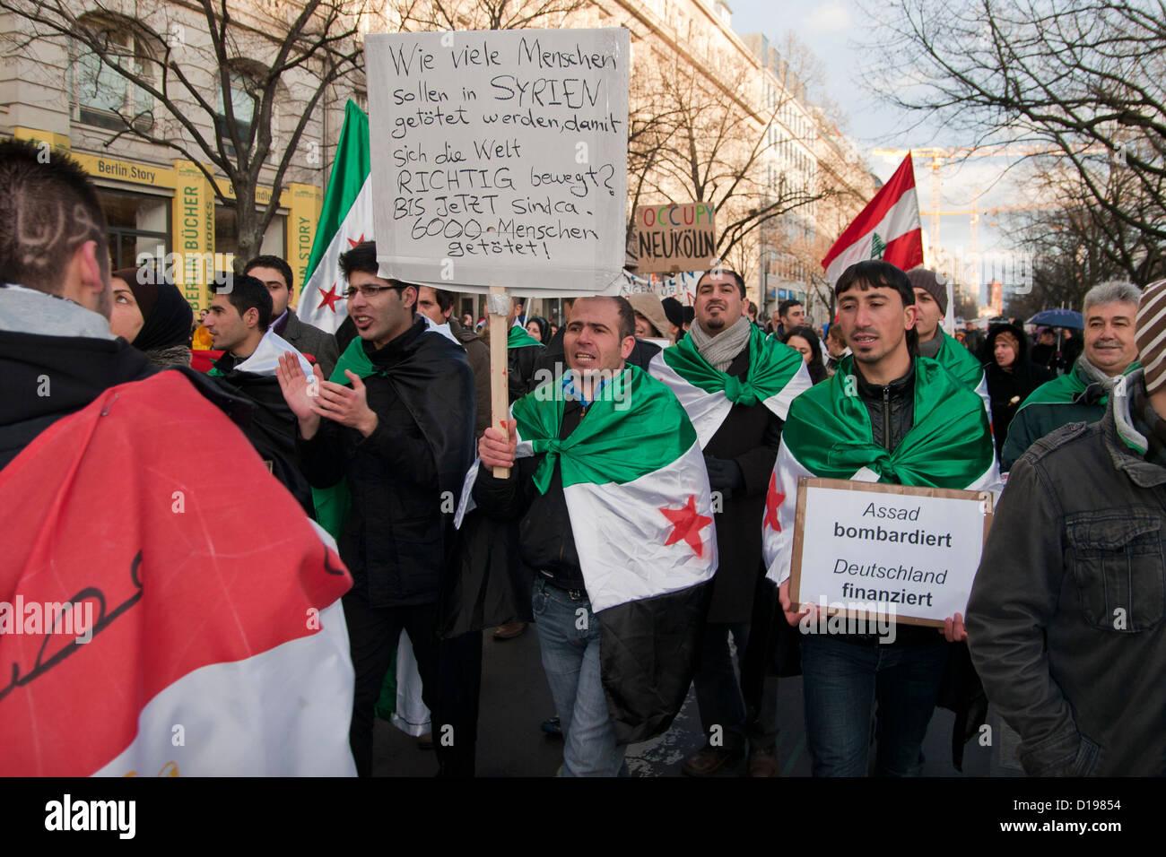 Occupy Berlin. Anti Assad protest. - Stock Image