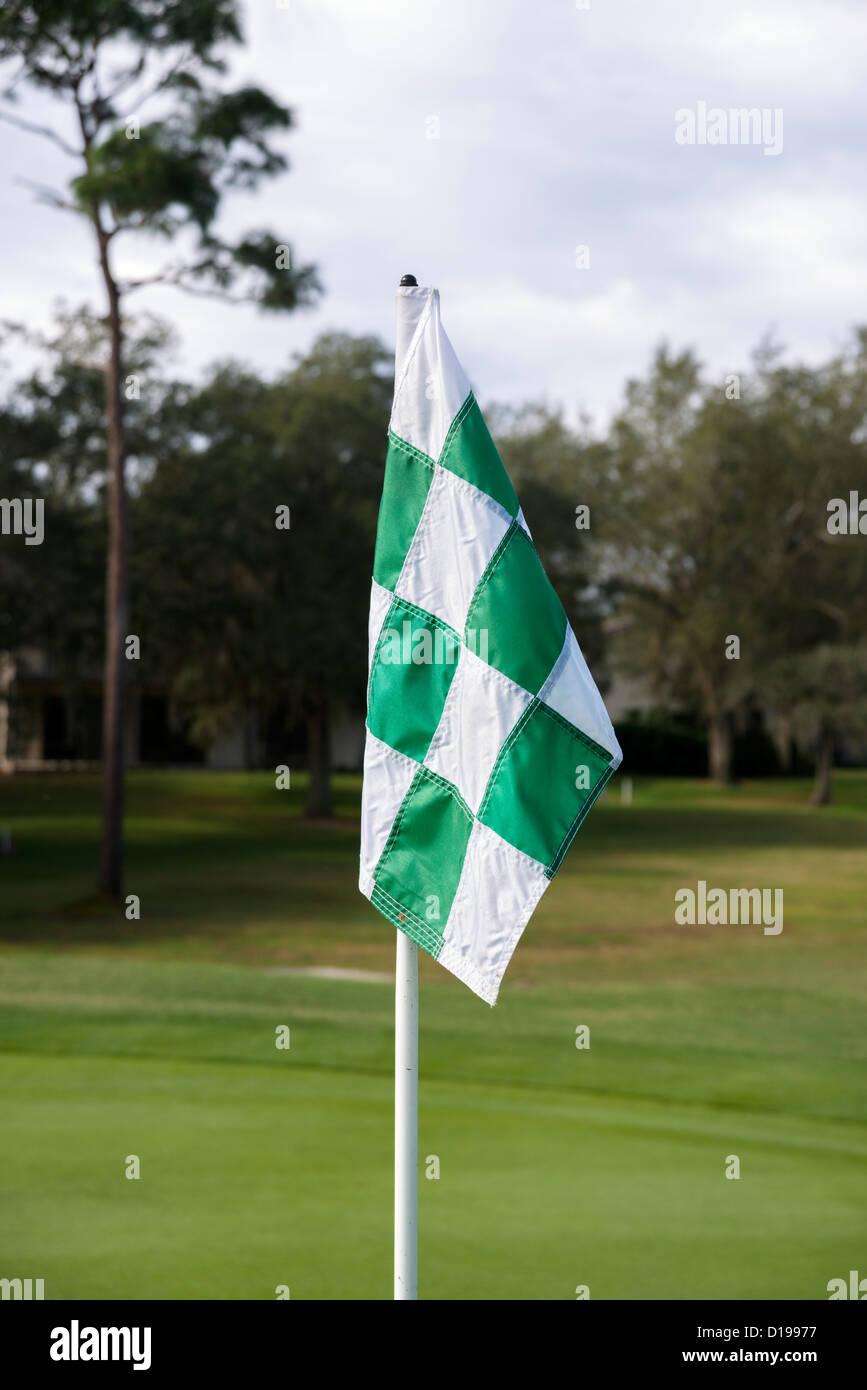 Golf Flag, Central Florida, USA - Stock Image