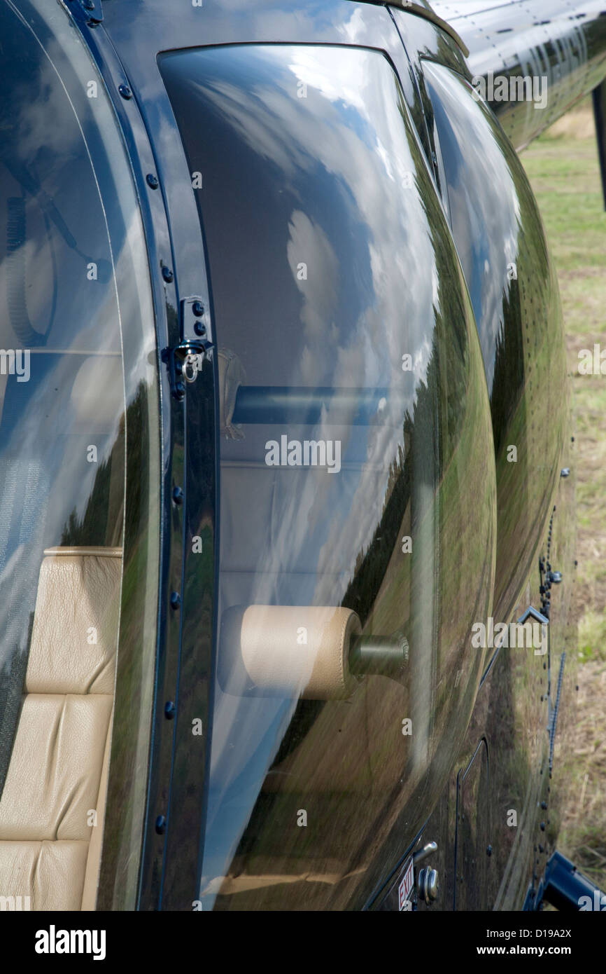 Close up of the window of a Helicopter - Stock Image