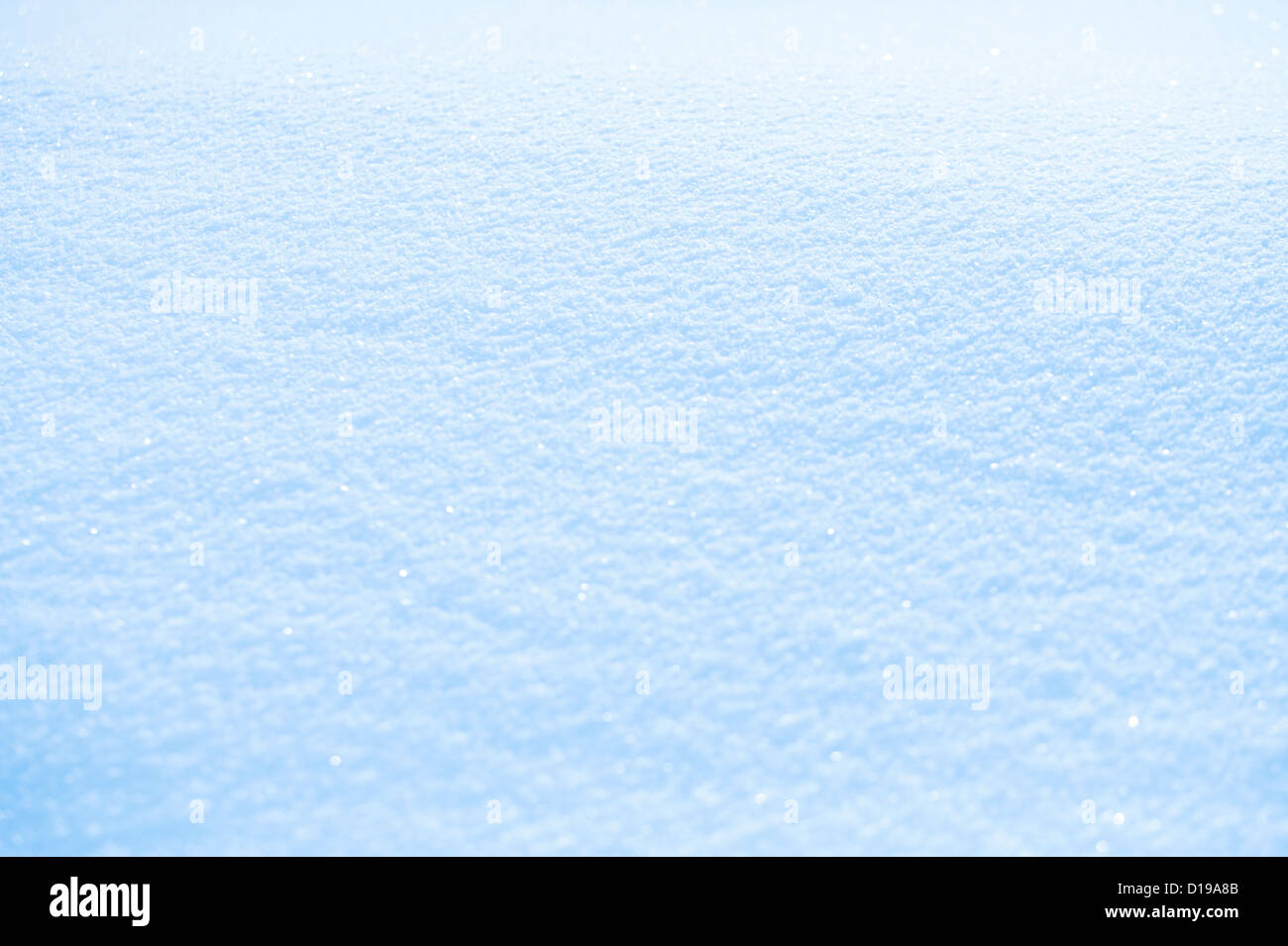 effective sky blue snow background, very tiny focus - Stock Image