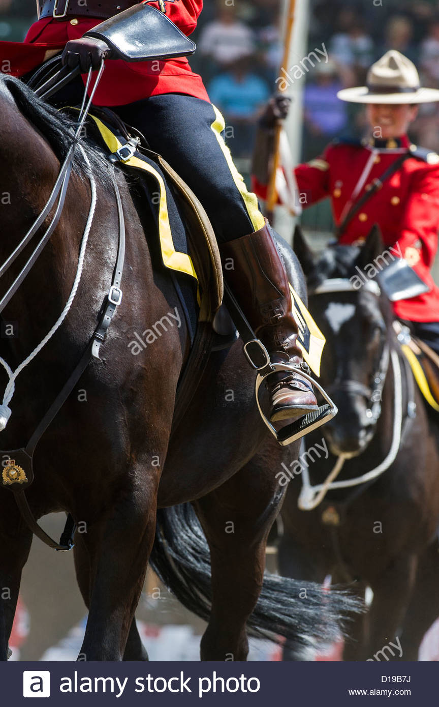 Rcmp Musical Ride At The Calgary Stampede Rodeo Opening