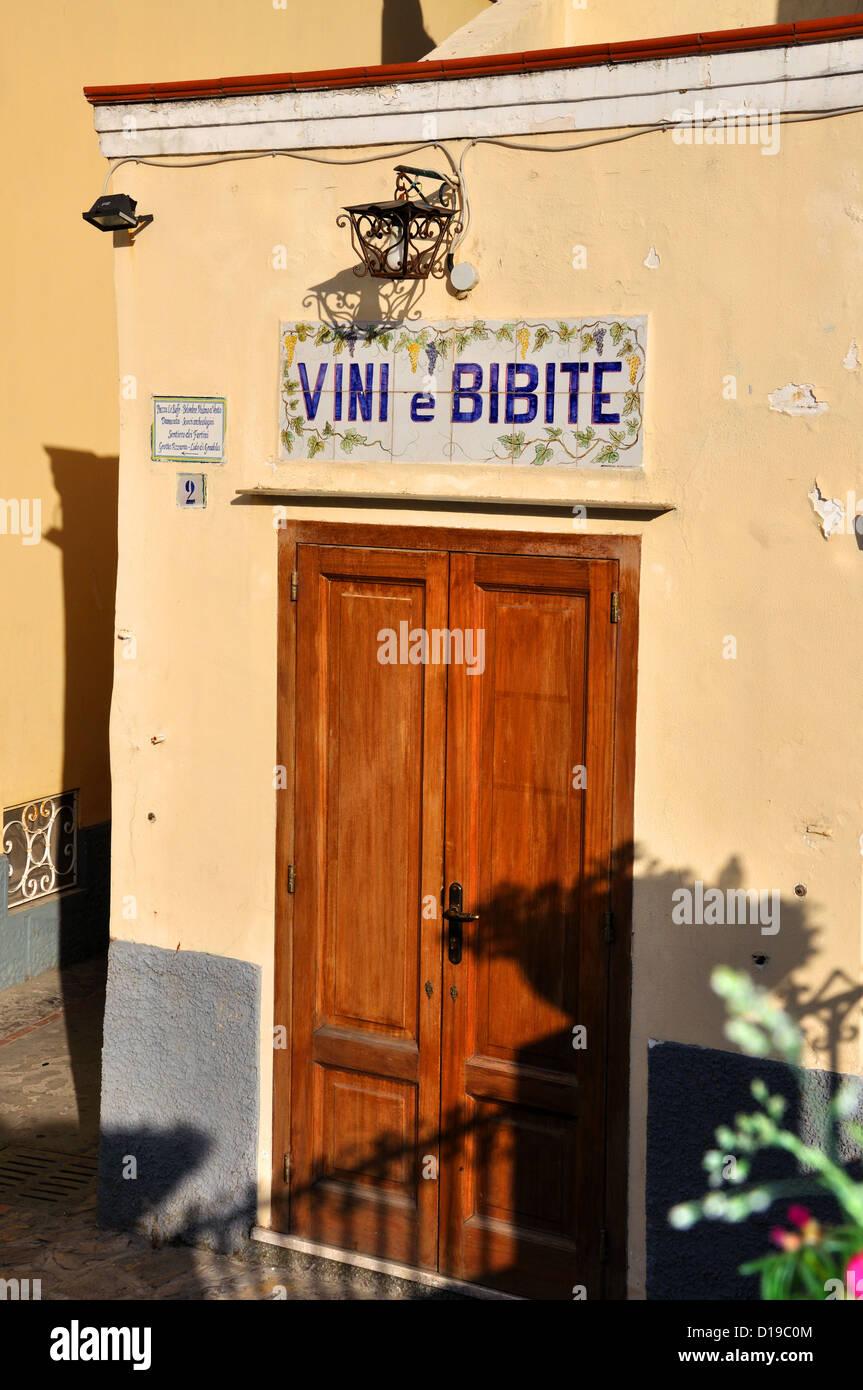 Vivi e Bibite shop Anacapri Capri Italy Stock Photo