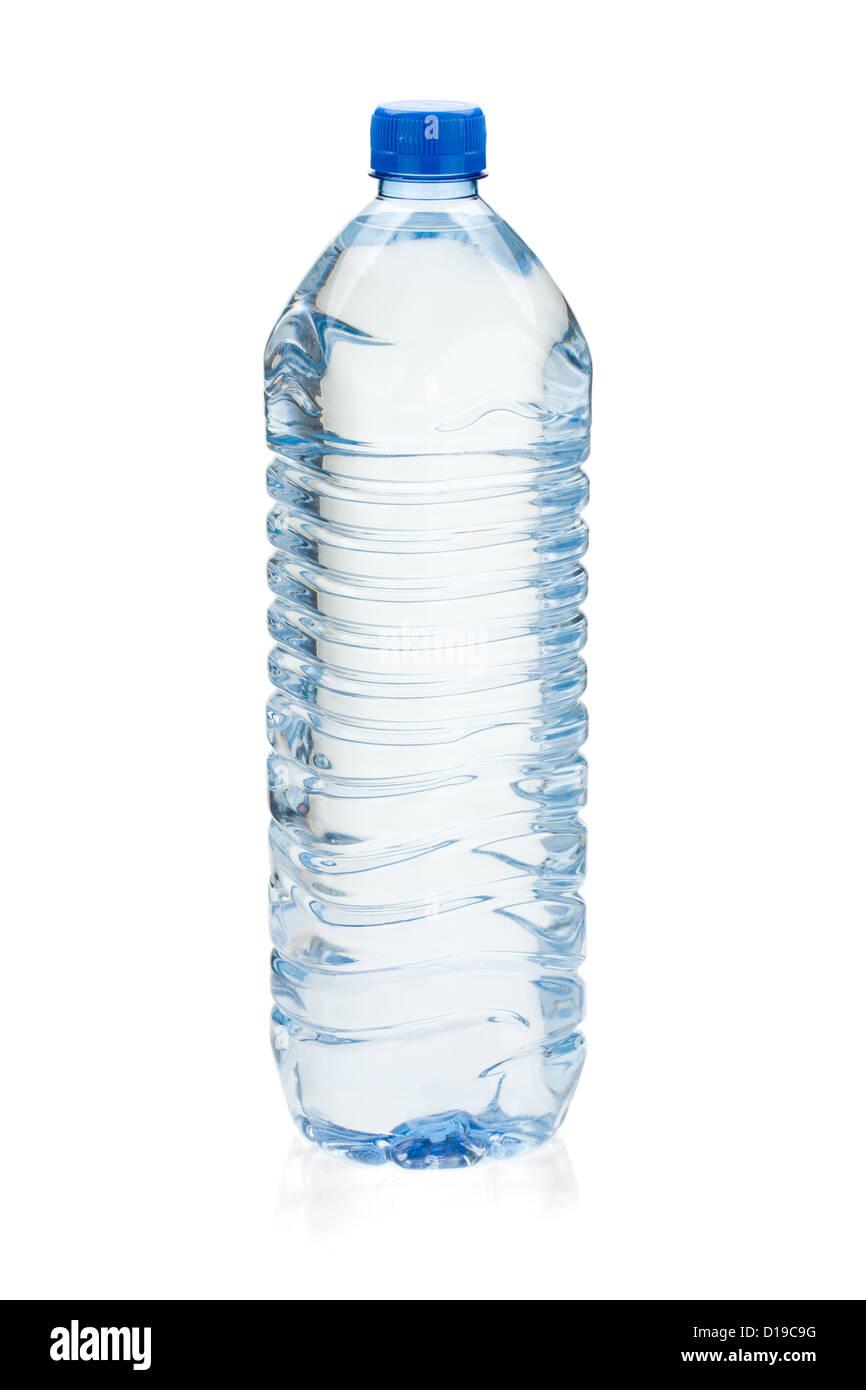 Soda water bottle. Isolated on white background - Stock Image