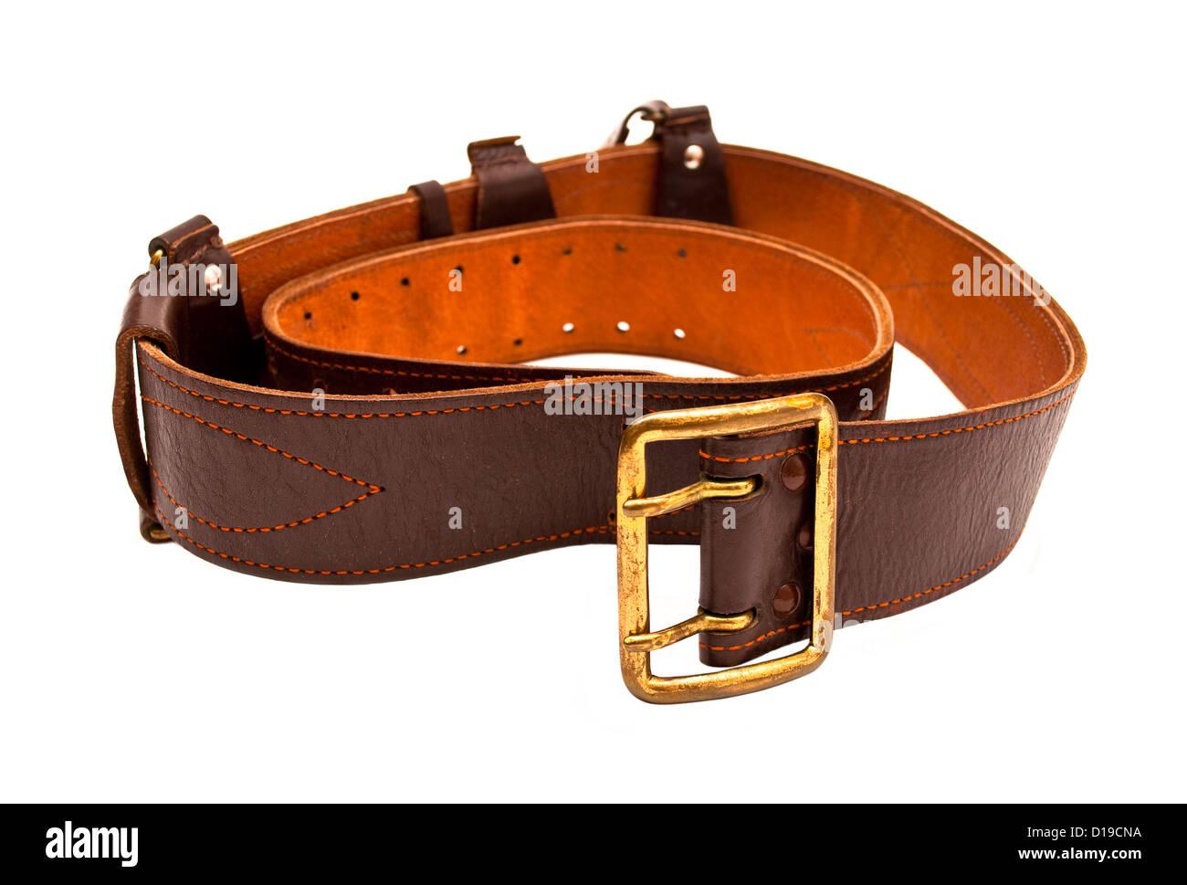 belt isolated on a white background - Stock Image