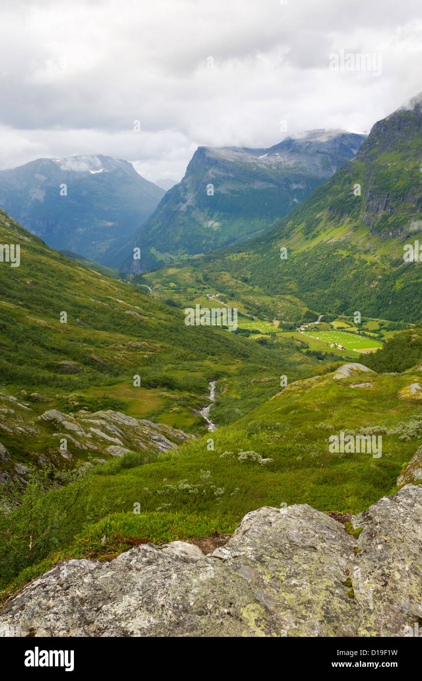 Mountains looking towards Geiranger, More og Romsdal, Norway - Stock Image