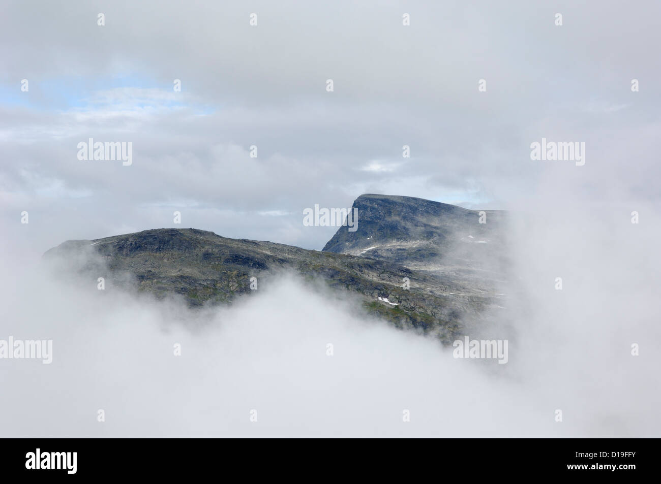 View from Dalsnibba mountain viewpoint, near Geiranger, More og Romsdal, Norway - Stock Image