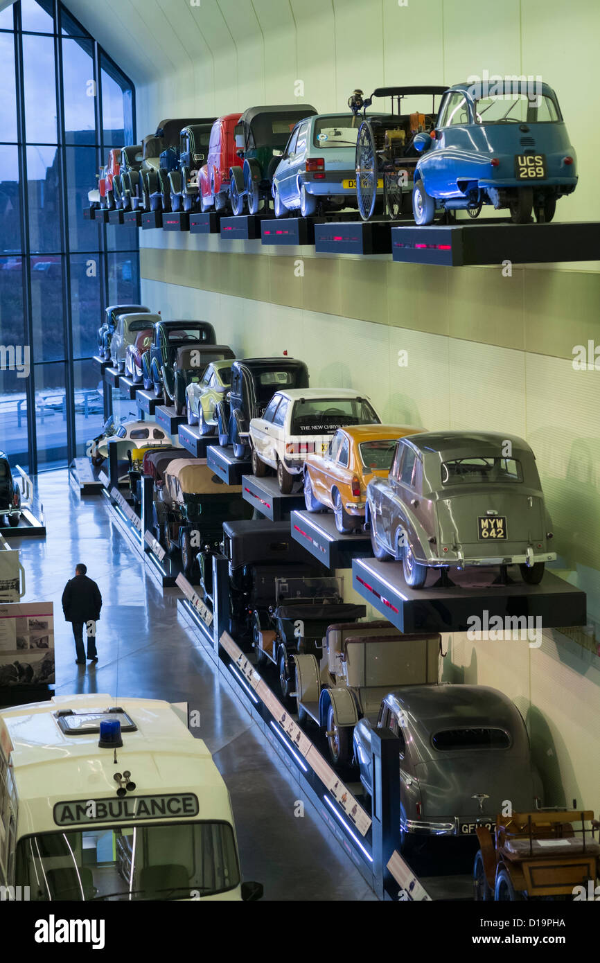Interior of new transport museum at Riverside Museum in Glasgow ...