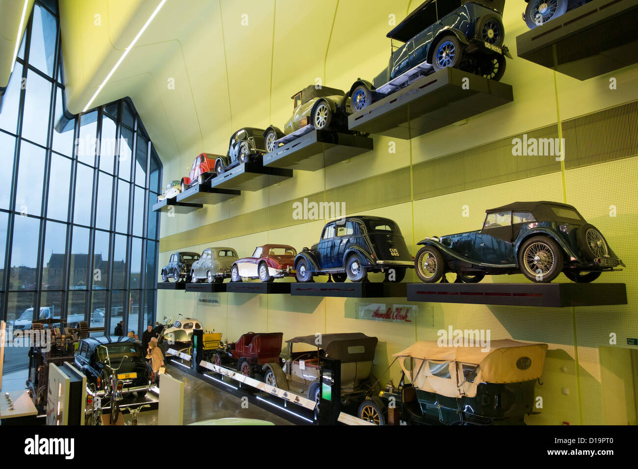 Many old cars on display at new transport museum at Riverside Museum ...