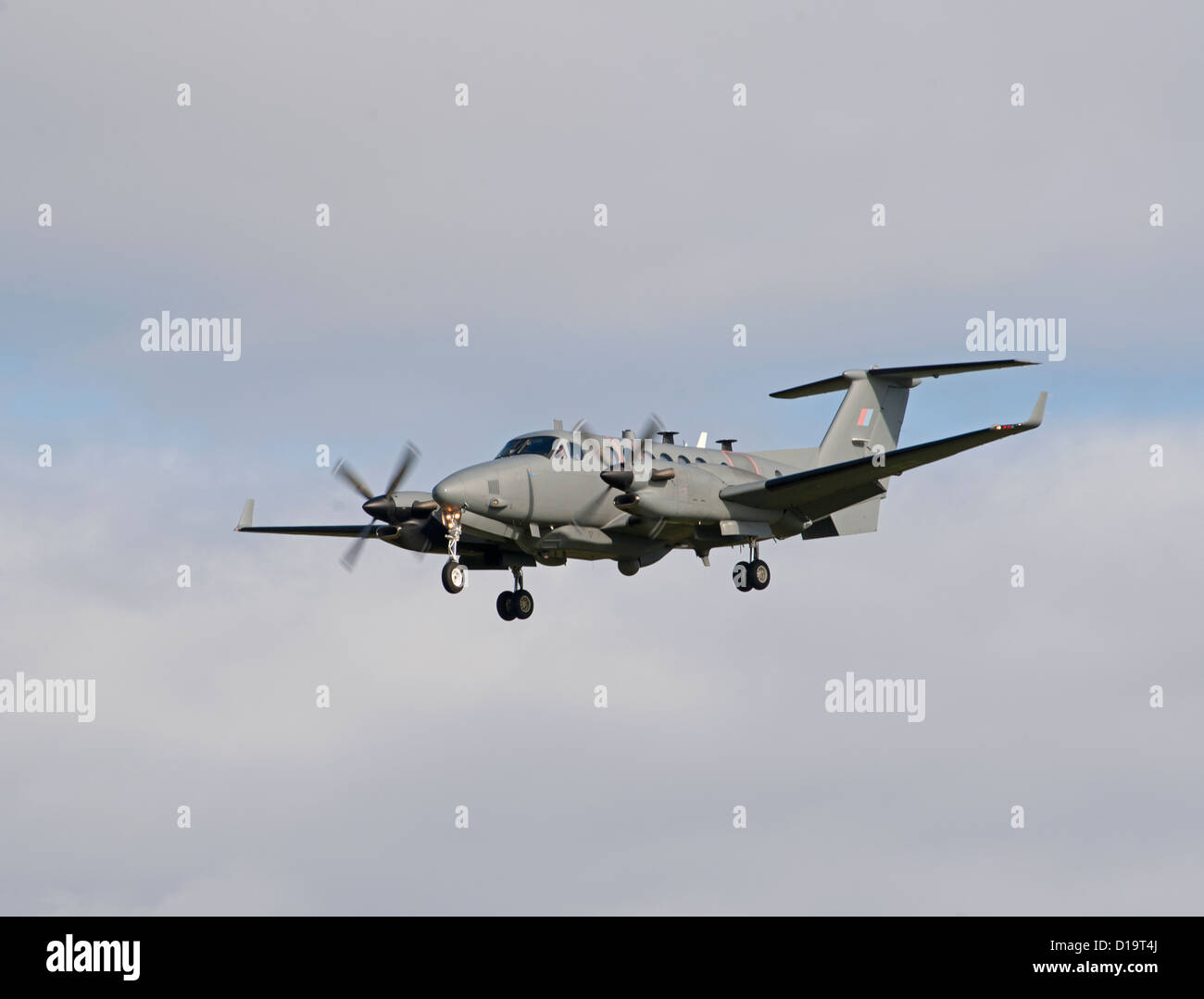 UK-AIR FORCE Hawker Beechcraft Shadow R1. (350CER). RAF Lossiemouth.  SCO 8888 - Stock Image